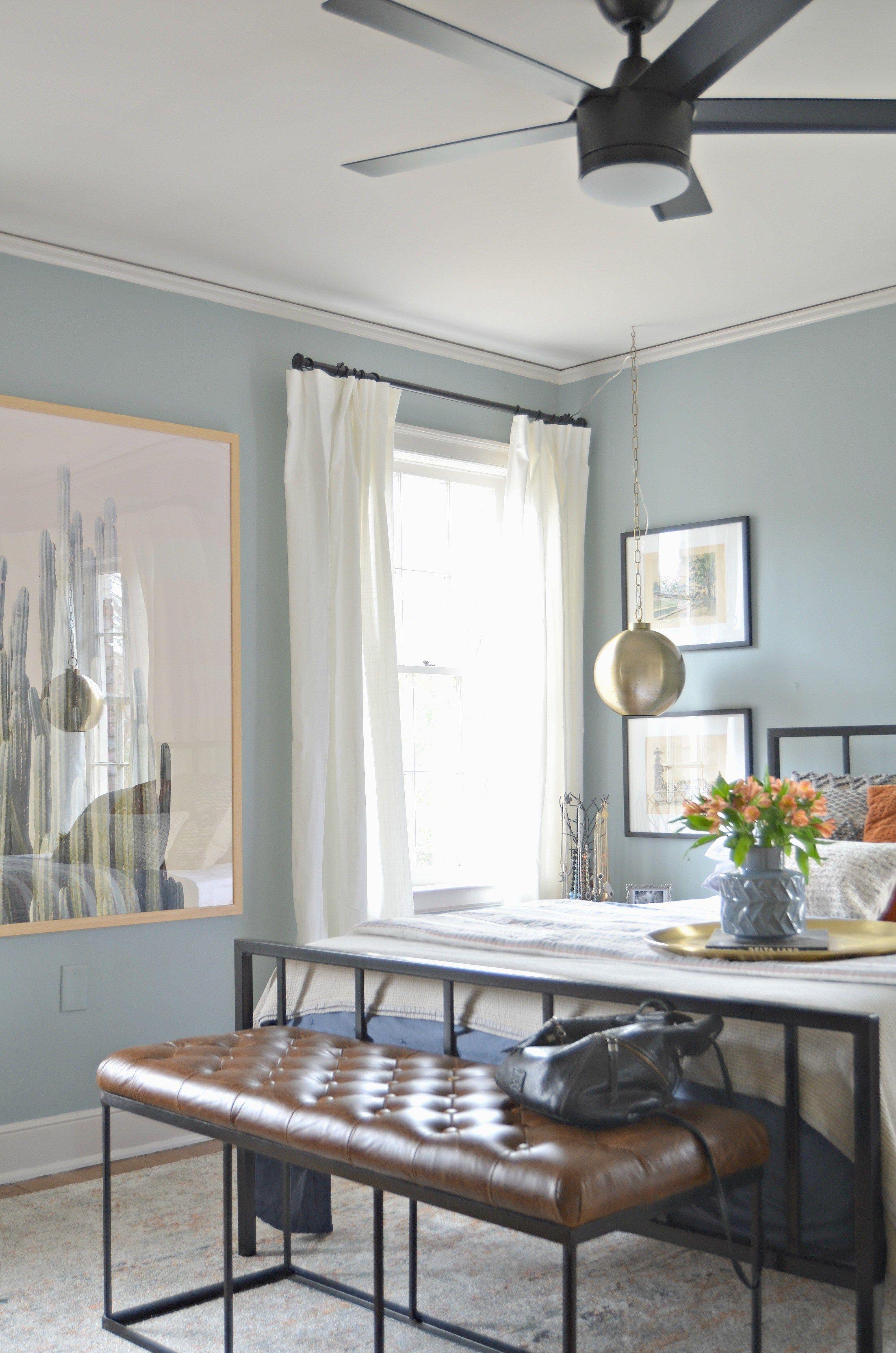 Wall color is Benjamin Moore Kentucky Haze | Paint Colors Blue ...