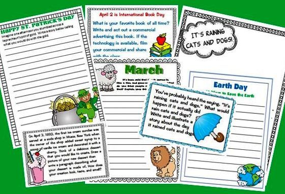 Use these spring writing prompts with ready-to-print papers ...