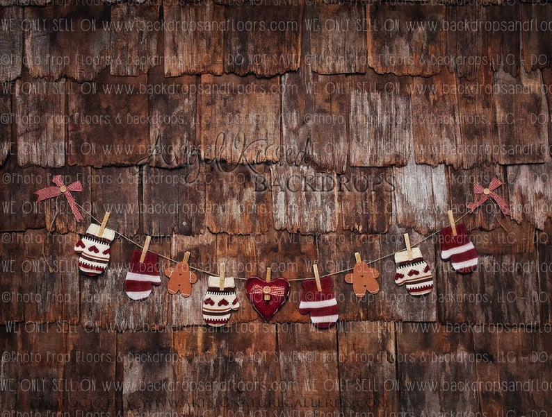 Best Burgundy Christmas Mittens On Rustic Shingles Photography 400 x 300