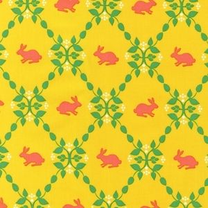 Laurie Wisbrun - Modern Whimsy - Rabbits Trellis in Meadow...this would make such a cute dress for Matea!