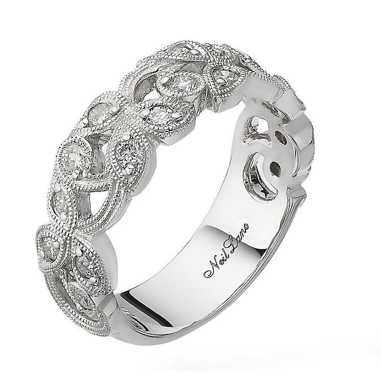 Neil Lane Designs 14ct White Gold 047ct Diamond Vine Ring