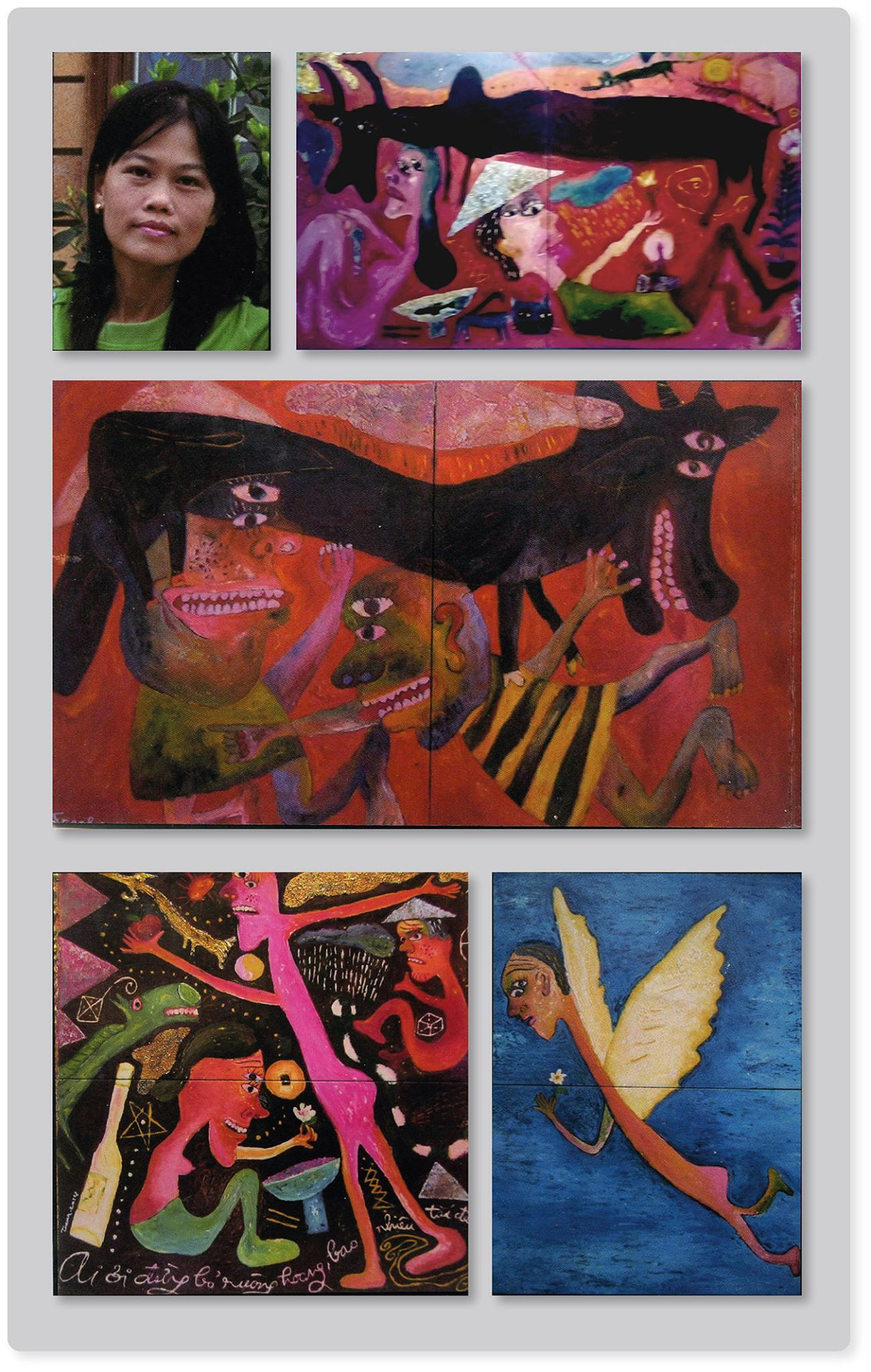 In A Gallery Near The Ancient Japanese Bridge In Hội An Vietnam I Came Across Paintings Which Impressed Me Very Much Artist Hoang Outsider Art Kunst Bilder