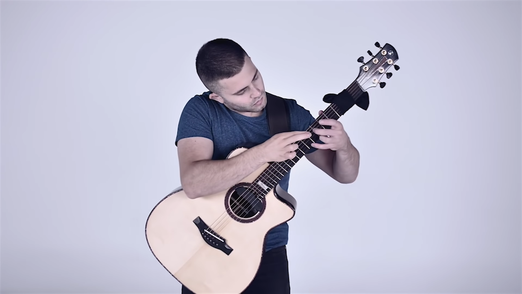 An Incredible Double Fret Tapping Performance Of The Turkish March By Mozart On Acoustic Guitar Acoustic Guitar Guitar Acoustic
