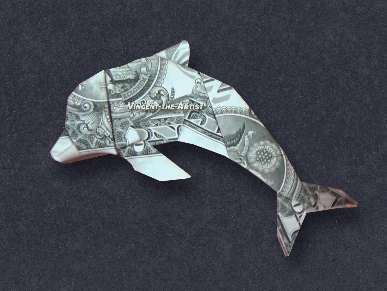 Dolphin Money Dollar Origami Fish Animal Dollar Origami Origami Fish Money Origami