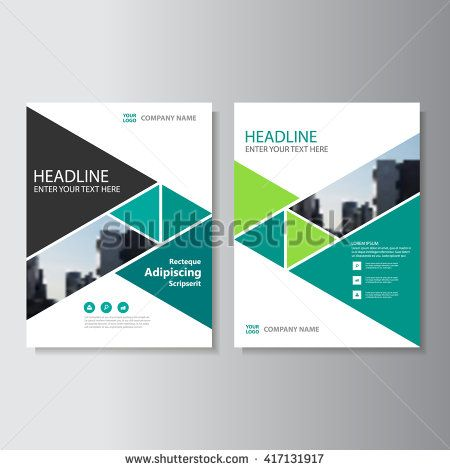 Green triangle Vector annual report Leaflet Brochure Flyer - free annual report templates