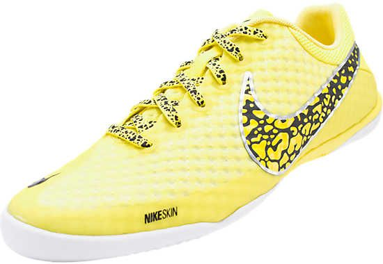 Nike FC247 Elastico Finale II Indoor Soccer Shoes - Sonic Yellow with Black.