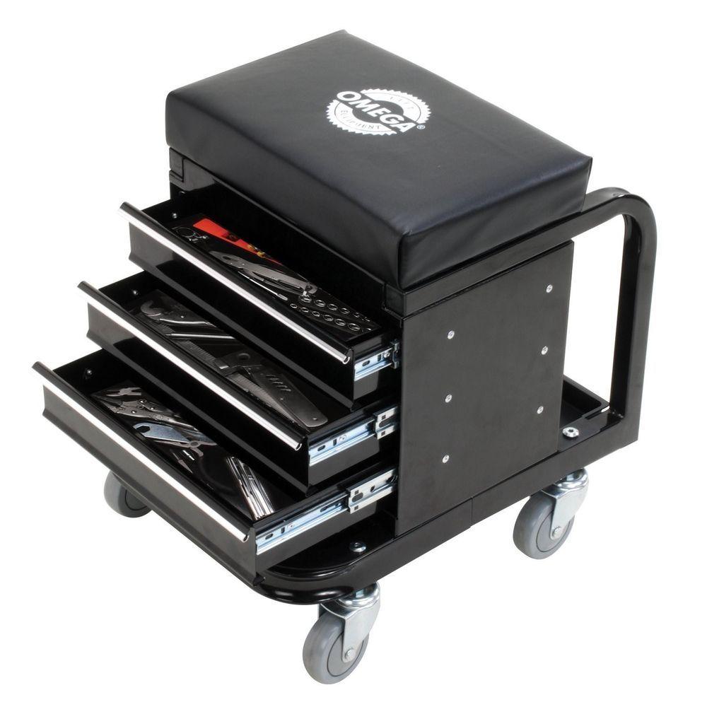 Garage Tool Storage Organizer Stool Drawer Tray Seat Mechanic ...