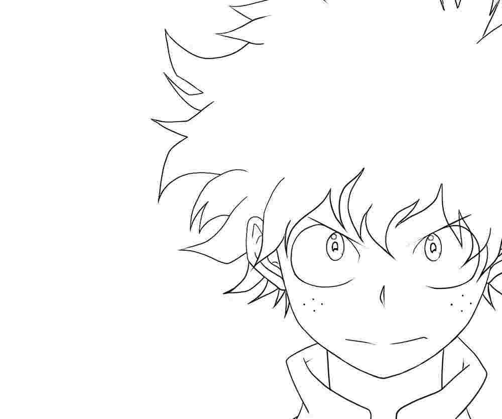 Coloring Pages My Hero Academia Manga Coloring Book Mermaid Coloring Pages Anime Drawings Sketches