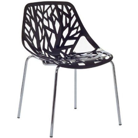 Amazon.com: Birch Sapling Black Plastic Modern Dining Chair: Home & Kitchen