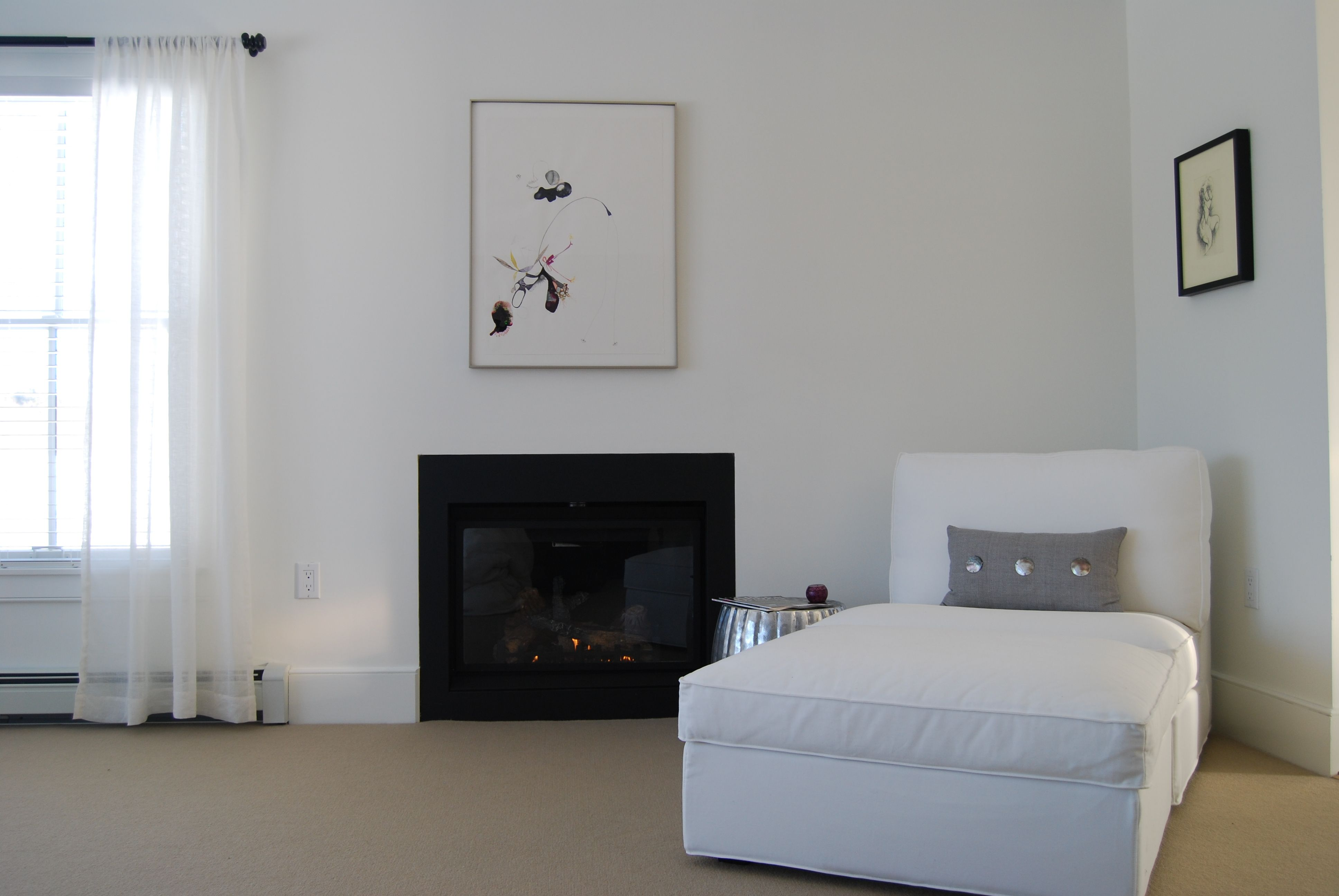 Master Bedroom Lounge Area With Gas Fireplace