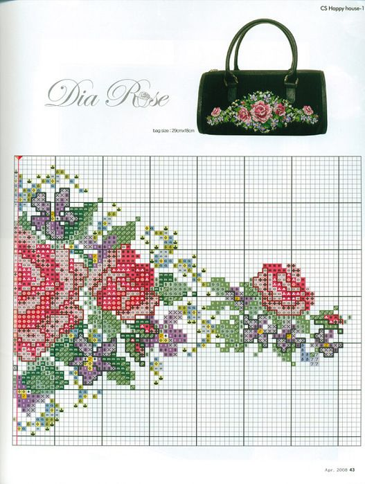 Pin de Deborah Ladd en Flowers cross stitch | Pinterest | Cenefas ...