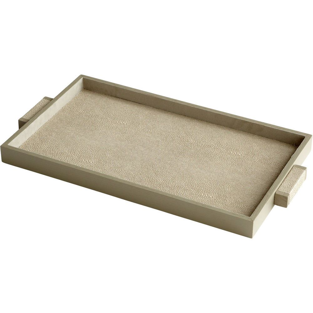 cyan design 06012 melrose shagreen tray medium