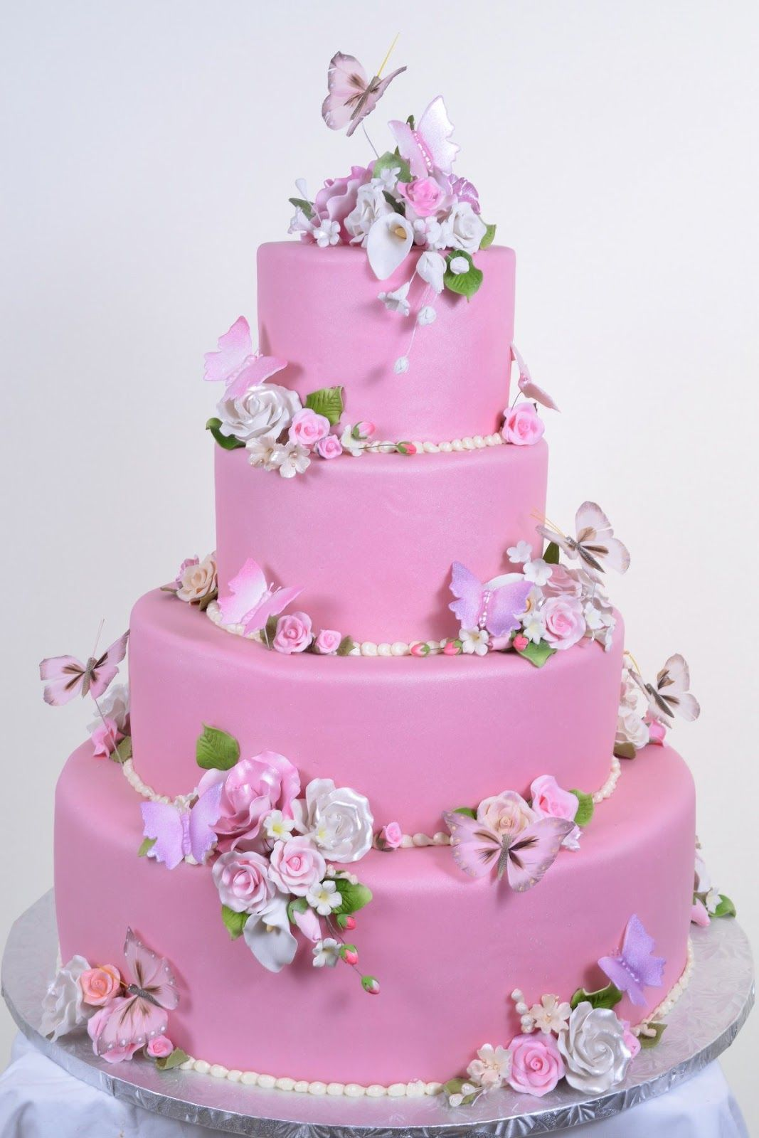 Wedding Cakes Pictures: Pink Butterfly Wedding Cakes | Let Them Eat ...