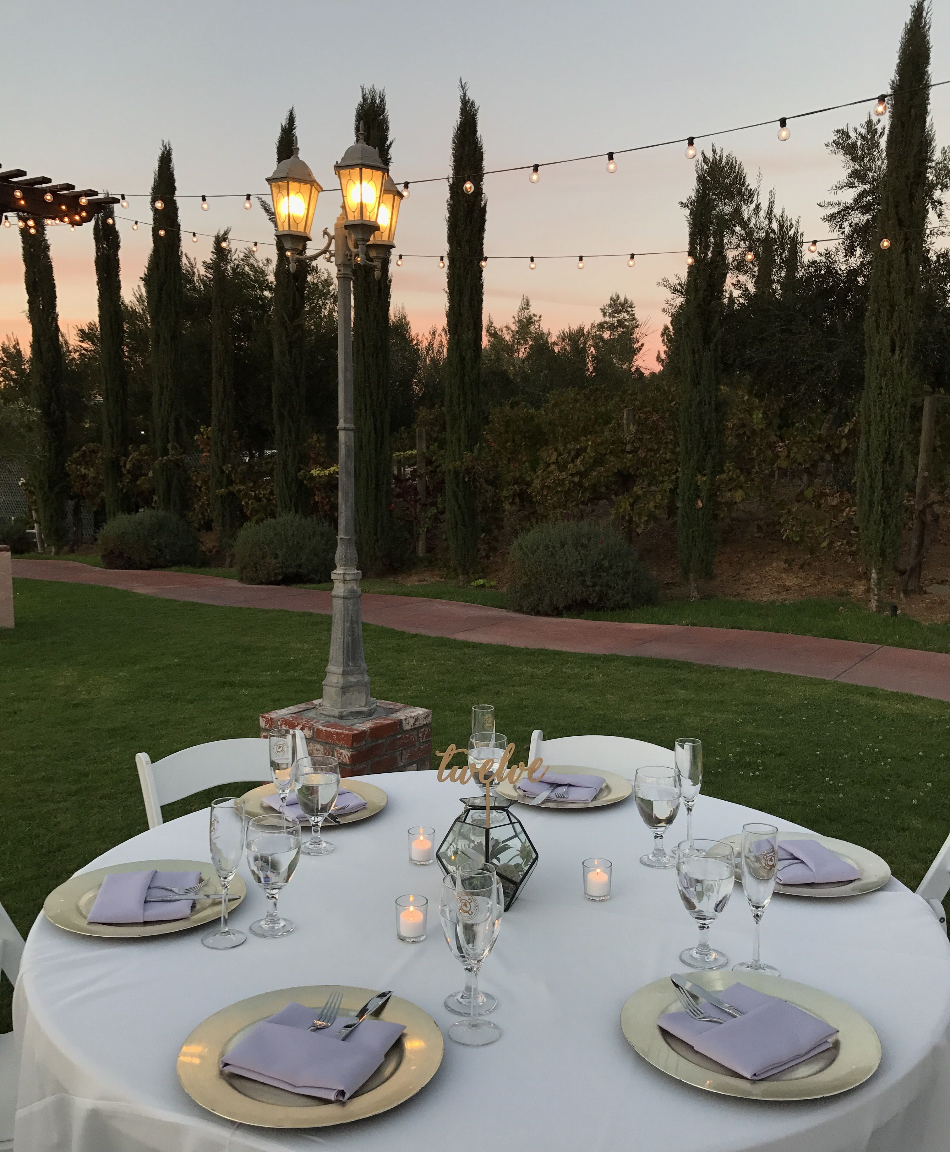 Hints of Soft lavender. Temecula Winery. Wedding