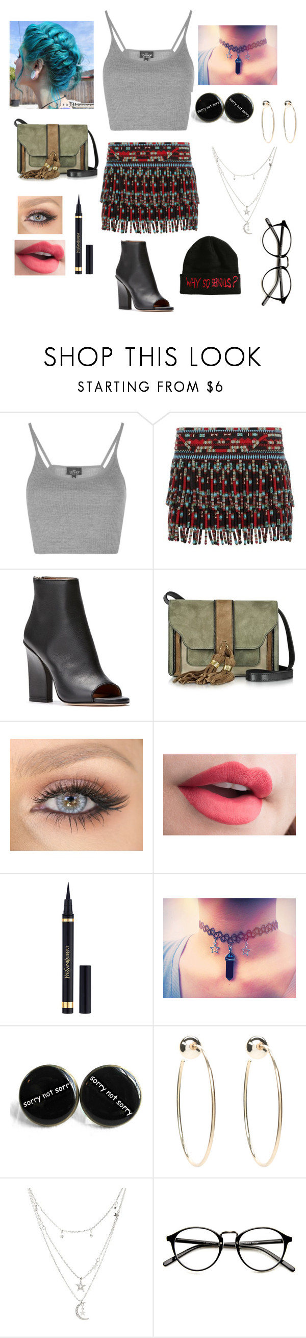 """""""Festivals!"""" by lonelykat ❤ liked on Polyvore featuring Topshop, Valentino, L'Autre Chose, Yves Saint Laurent, Bebe and Charlotte Russe"""