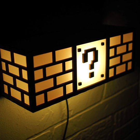 Super Mario Bros Question Block Lamp Led Light Bulb Night Lamps