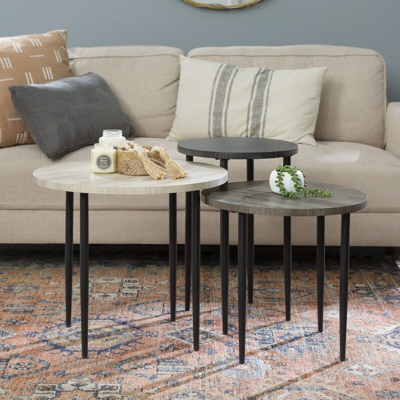 Schmid 3 Piece Nesting Table In 2021 Coffee Table Nesting Tables Nesting Coffee Tables