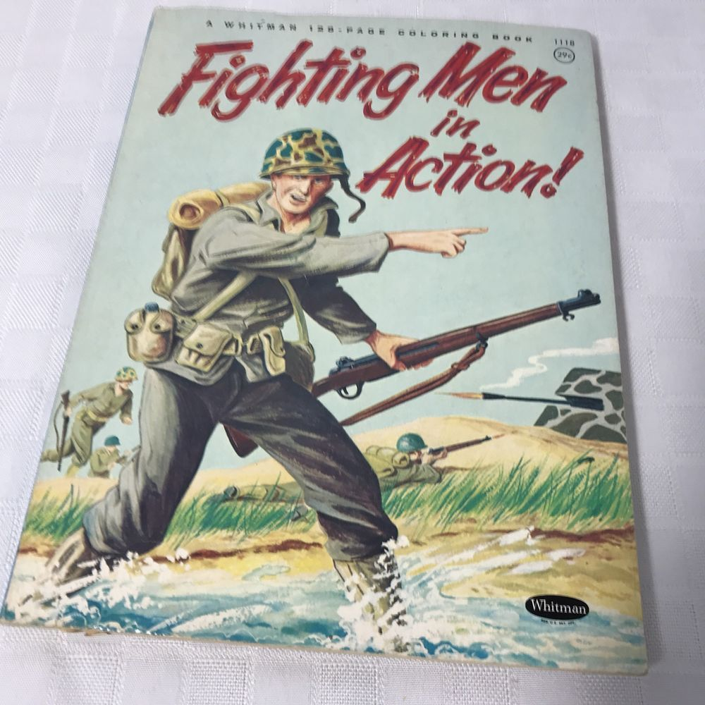 FIGHTING MEN in ACTION! Navy Army Marine War Coloring Book ...