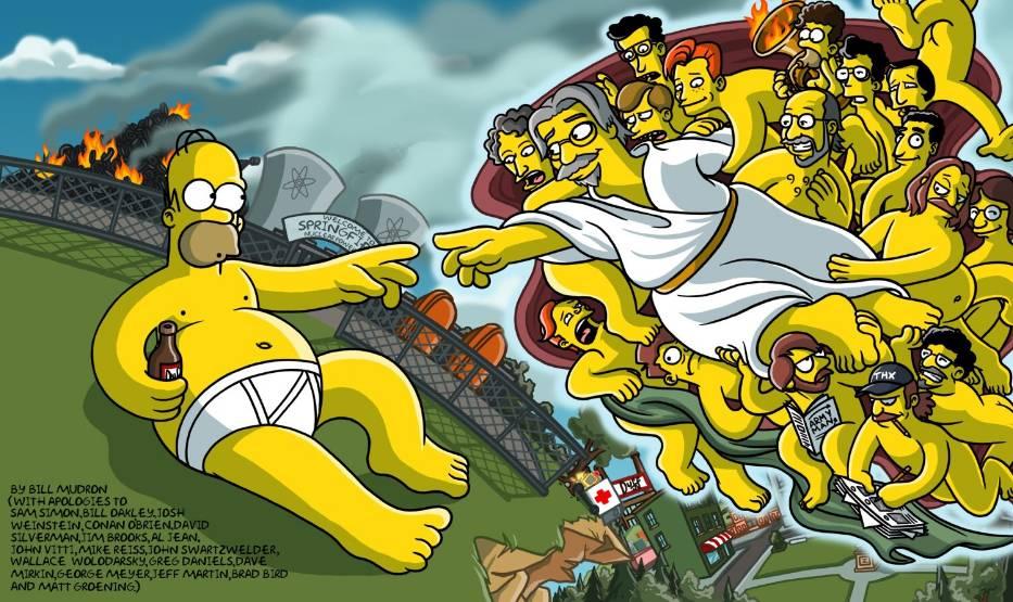 Lacreacion De Adan By Matt Groening Buscar Con Google Los Simpsons Personajes De Los Simpsons Los Simpson
