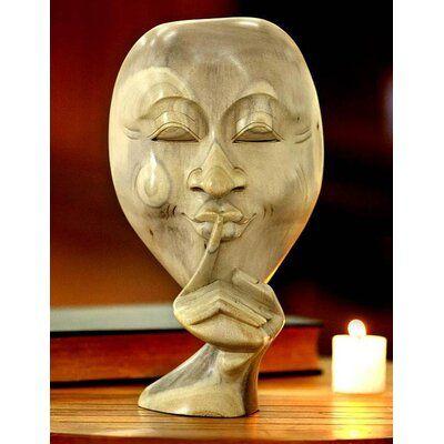 Novica Silence is Golden Bust #woodcarvingtoo
