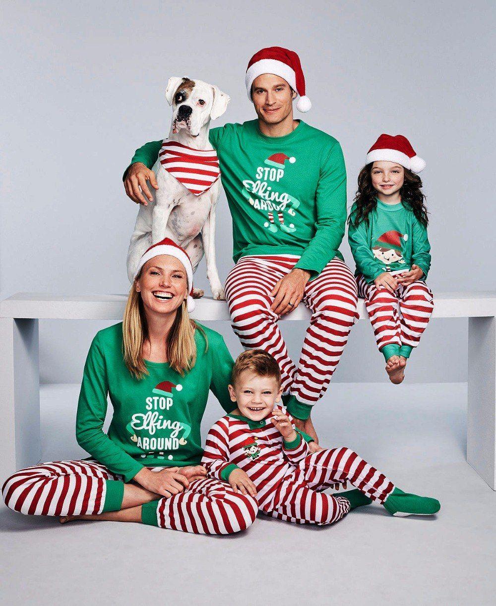 Family Pajamas Mens Elfing Around Pajama Set
