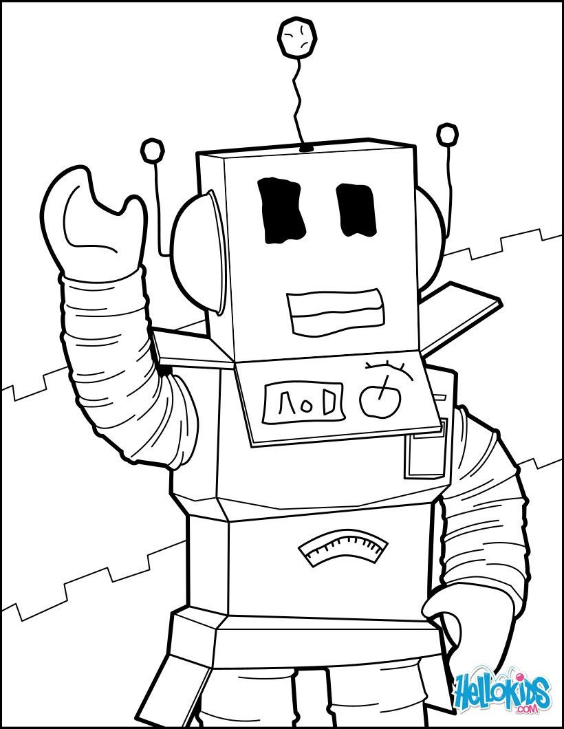Destiny Roblox Coloring Pages A Robot Of Hello Unk on Unconditional ...