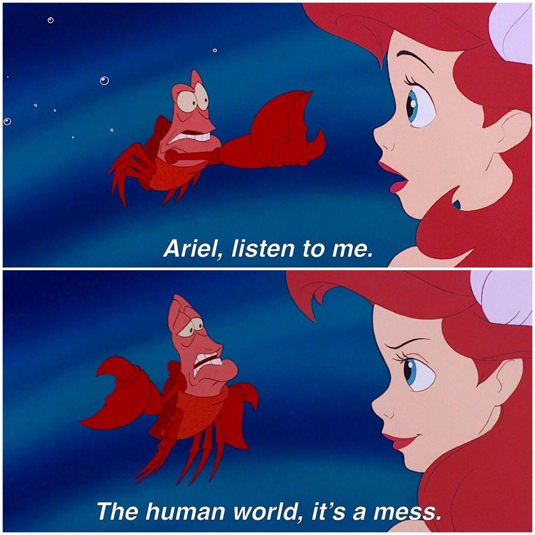 Disney Princess On Instagram Trust The Crustacean Disney Princess Quotes Disney Princess Funny Disney Princess Memes