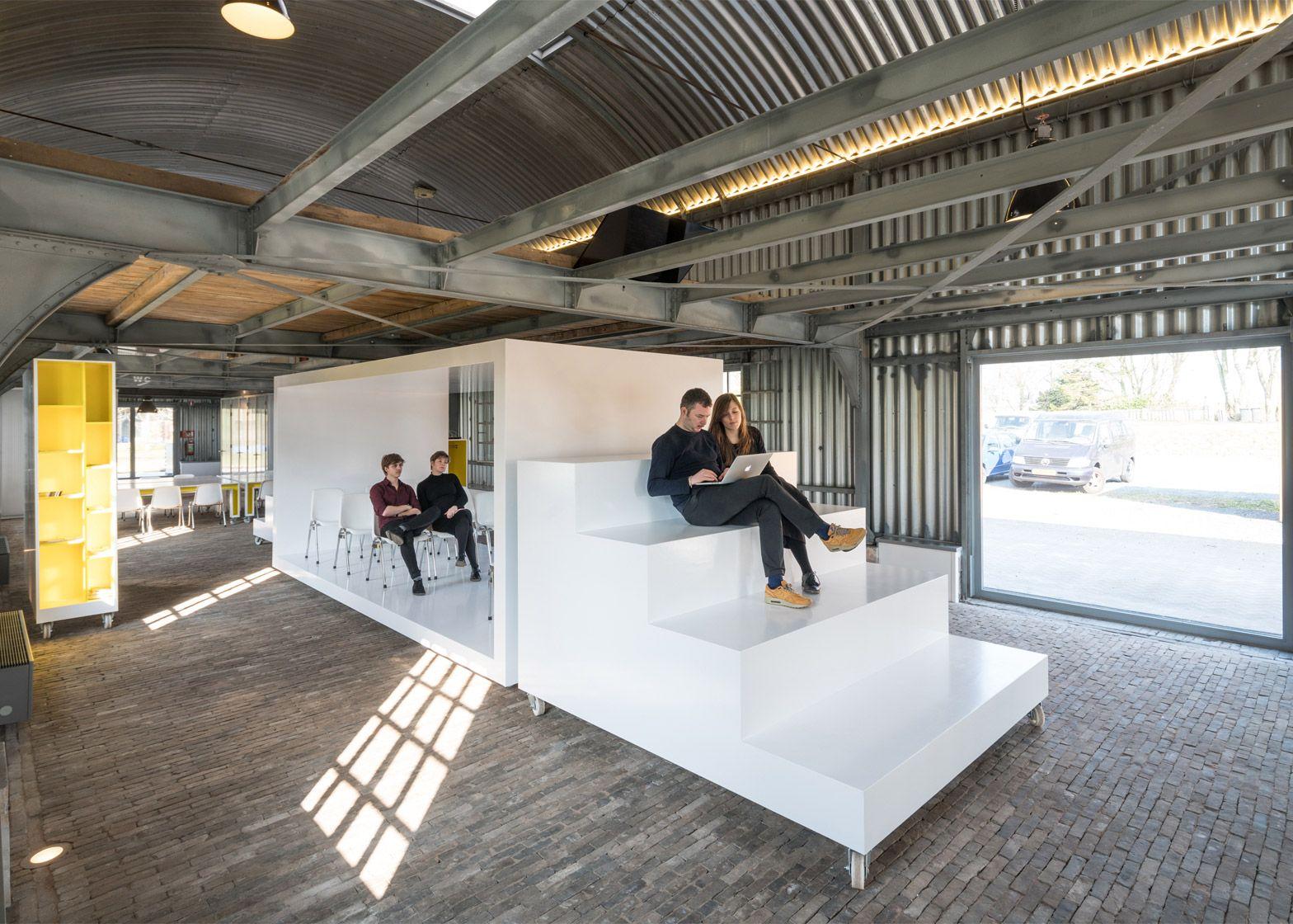 Mobile Furniture Provides Reconfigurable Interior For Arts Venue