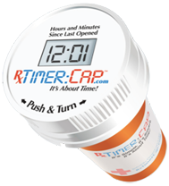 The Rx Timer Captm Is A Pill Bottle With A Digital Timer