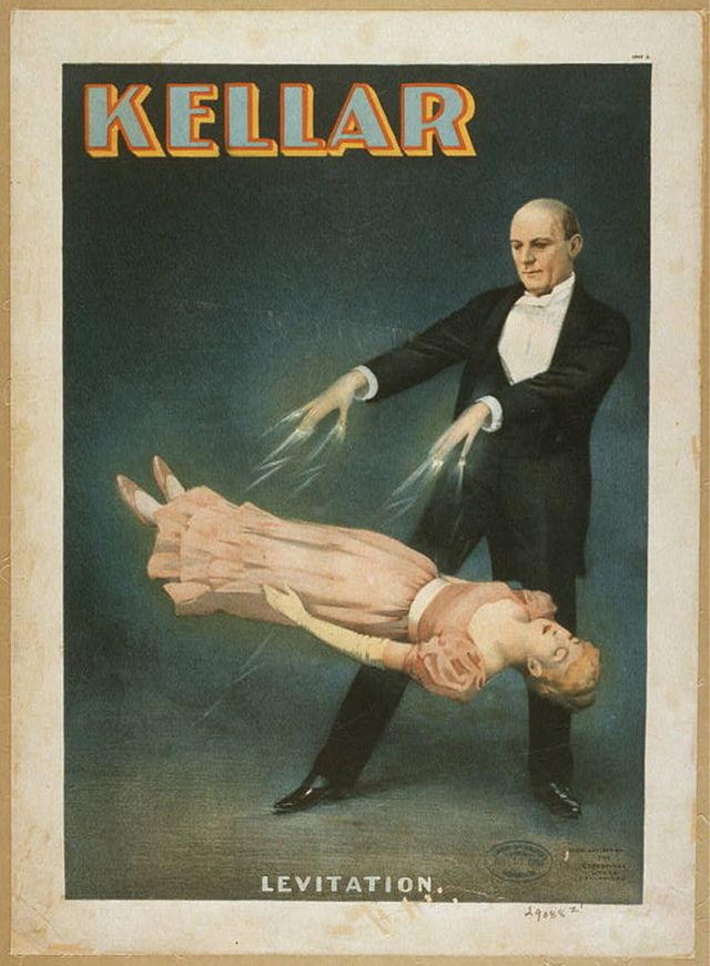 Harry Kellar's magic show posters from the late 19th and early 20th centuries.