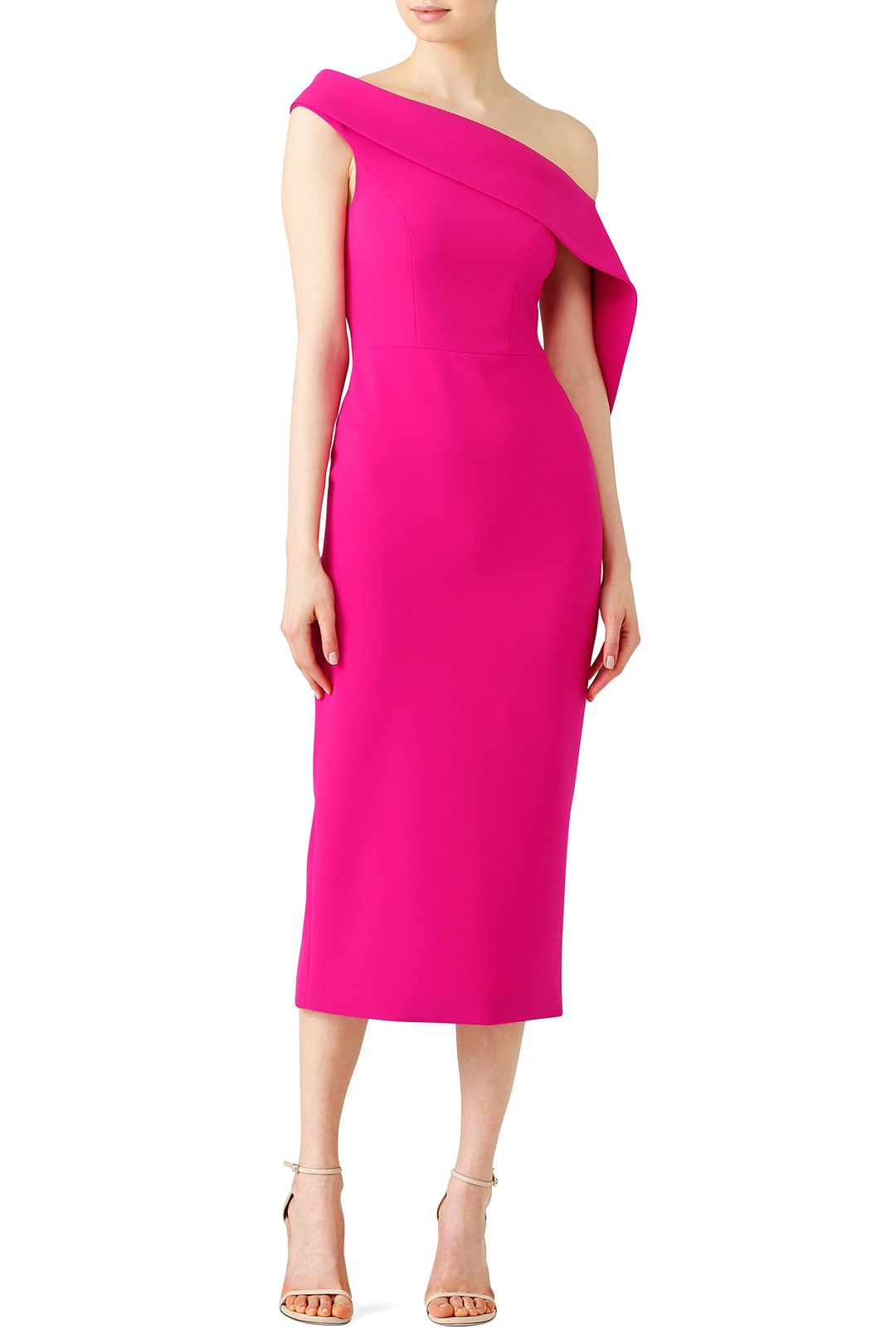 00b666e66bf283 Rent Fuchsia Drape Dress by Christian Siriano for  200 -  215 only at Rent  the Runway.