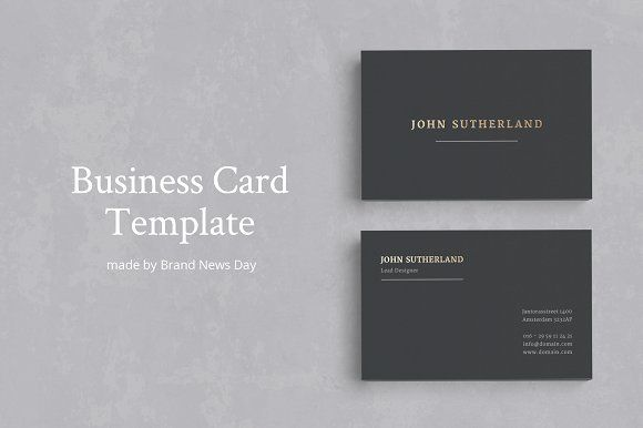 Gold Foil Business Card by Brand New Days on  creativemarket     Business Card Templates