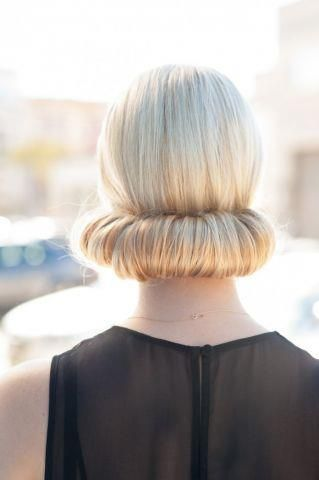 sock bun - also great for work and holiday parties.