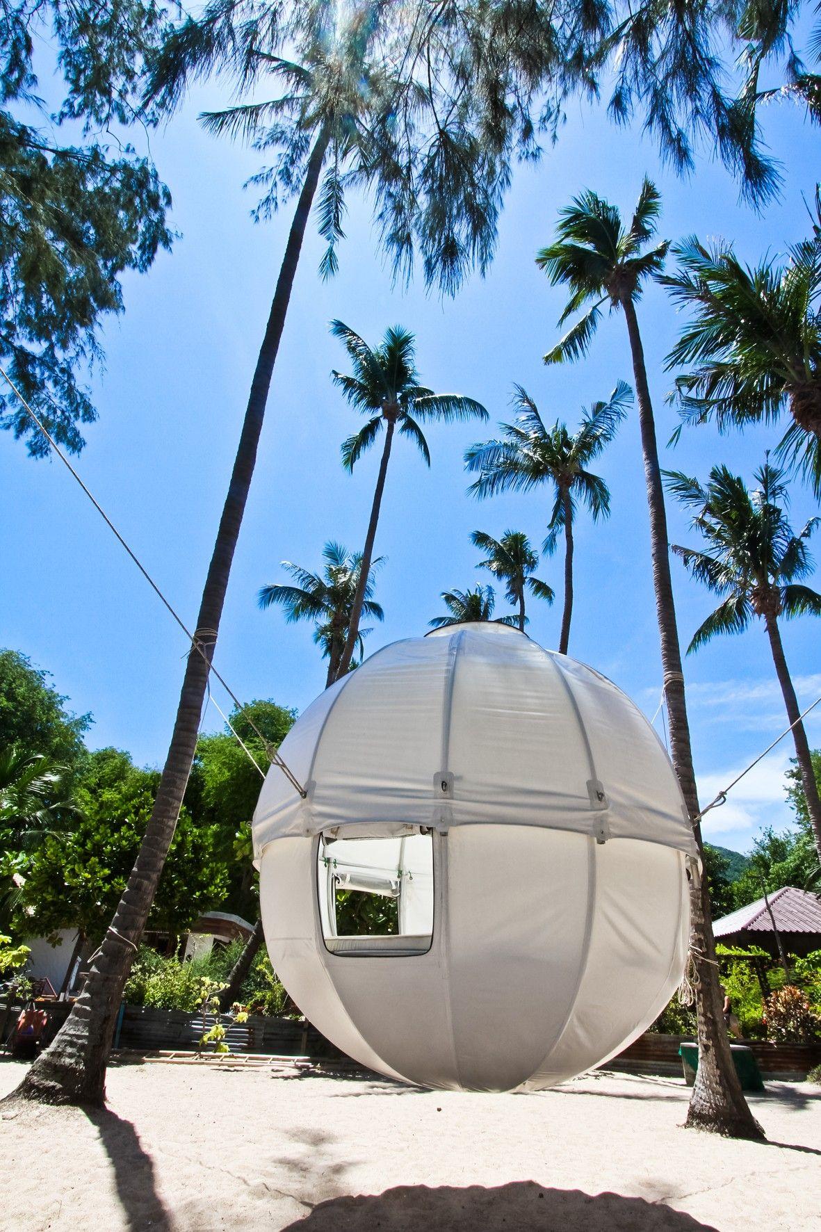 Cocoon Tree, Spherical Hanging Tree House Kit | Treehouse, Custom ...