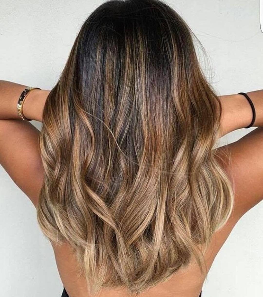 Окрашивание Балаяж на Русые волосы [50 фото] — Тренды 2018 ...