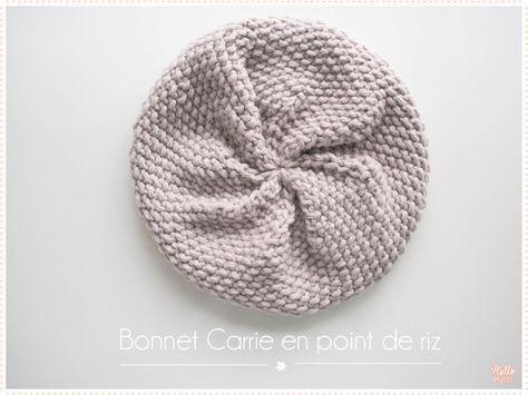 boutique de sortie produits chauds coupe classique Tricot Le bonnet Carrie point de riz (tuto pdf) | modèle ...