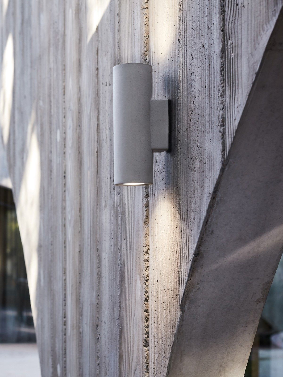 Mfl By Masson Tanimi Gu10 Up Down Wall Sconce In Concrete Modern Outdoor Lighting Sconces Wall Sconces