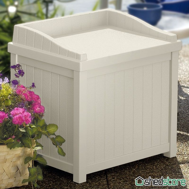 1u002711 X 1u00276 Suncast Resin Small Deck Storage Box Seat | Shedstore