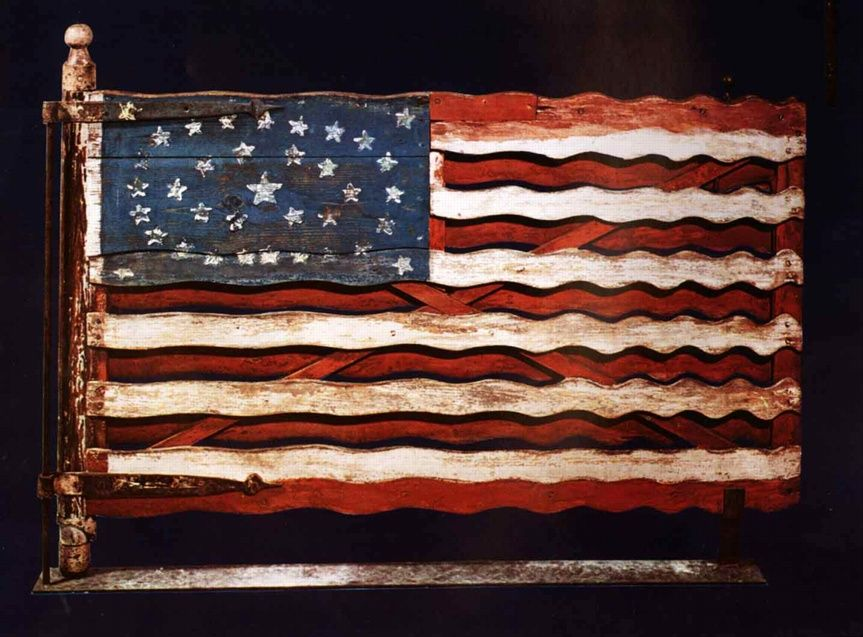 Flag Gate 1876 By Unknown Artist Paint On Wood With Iron And