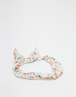 Enlarge Johnny Loves Rosie Floral Tie Headband