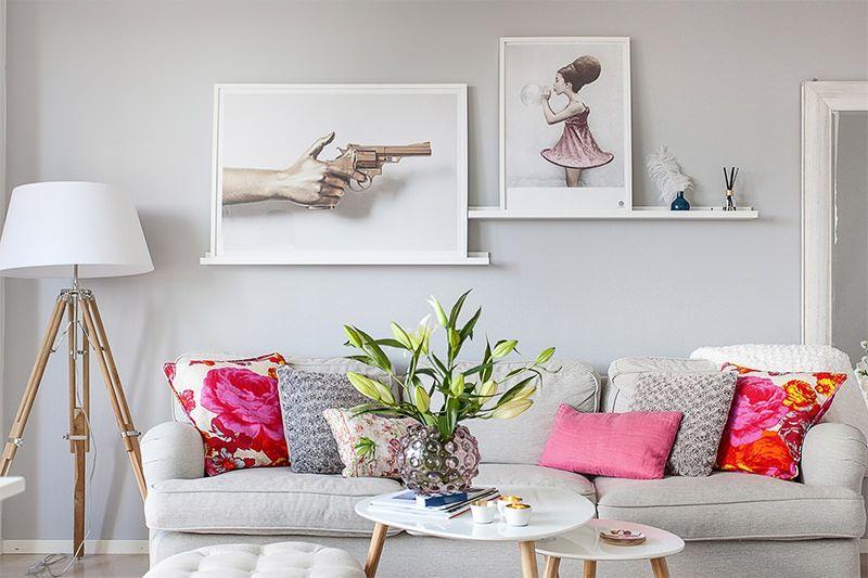 Apartamento Cinza Com Toques Coloridos Salas Coloridas