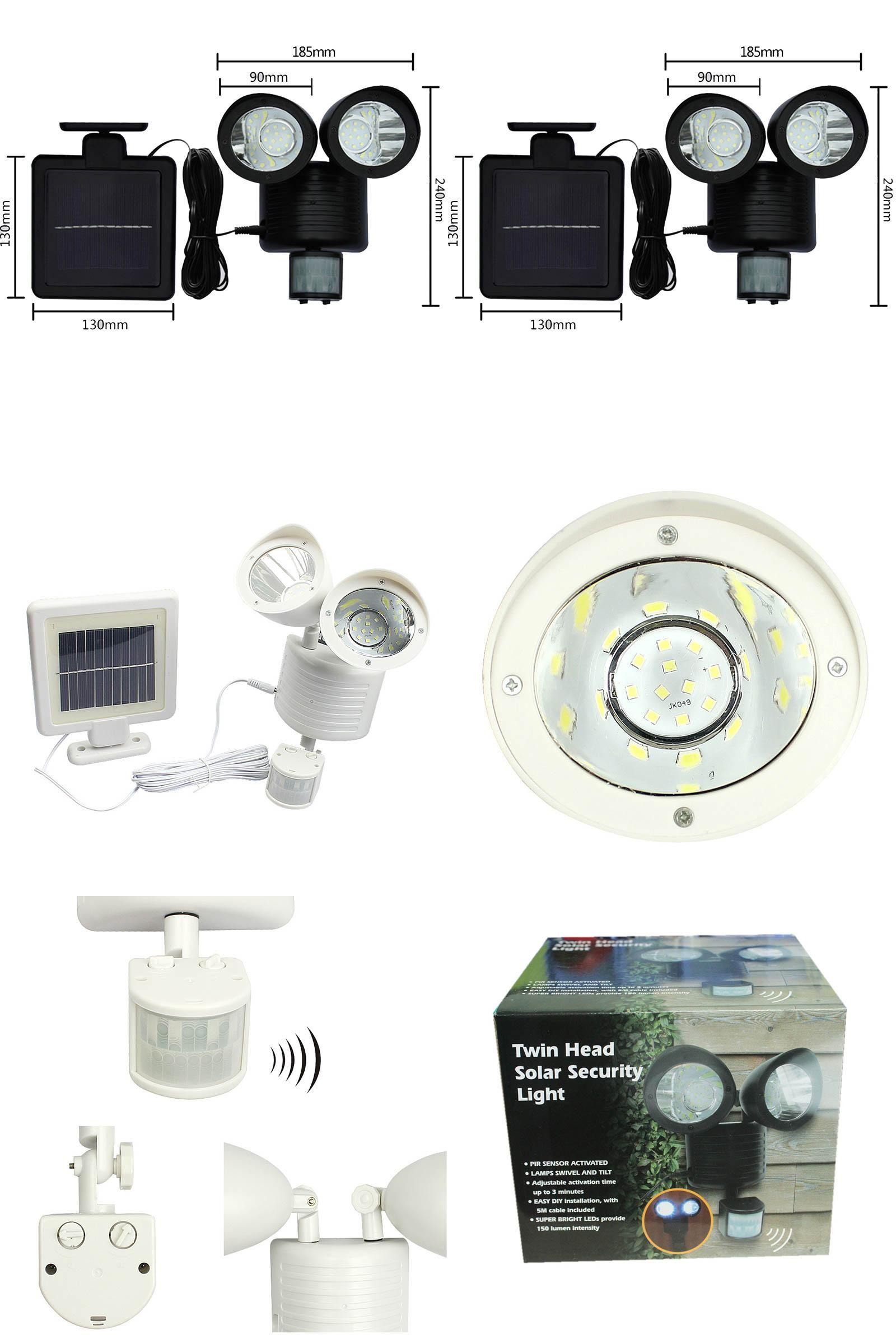 Visit To Buy Solar Light Dual Head Pir Motion Sensor Garden Yard Wall Spot Light Security Lamp Rotatable Waterproof Solar Power Lam Solar Lights Light Solar