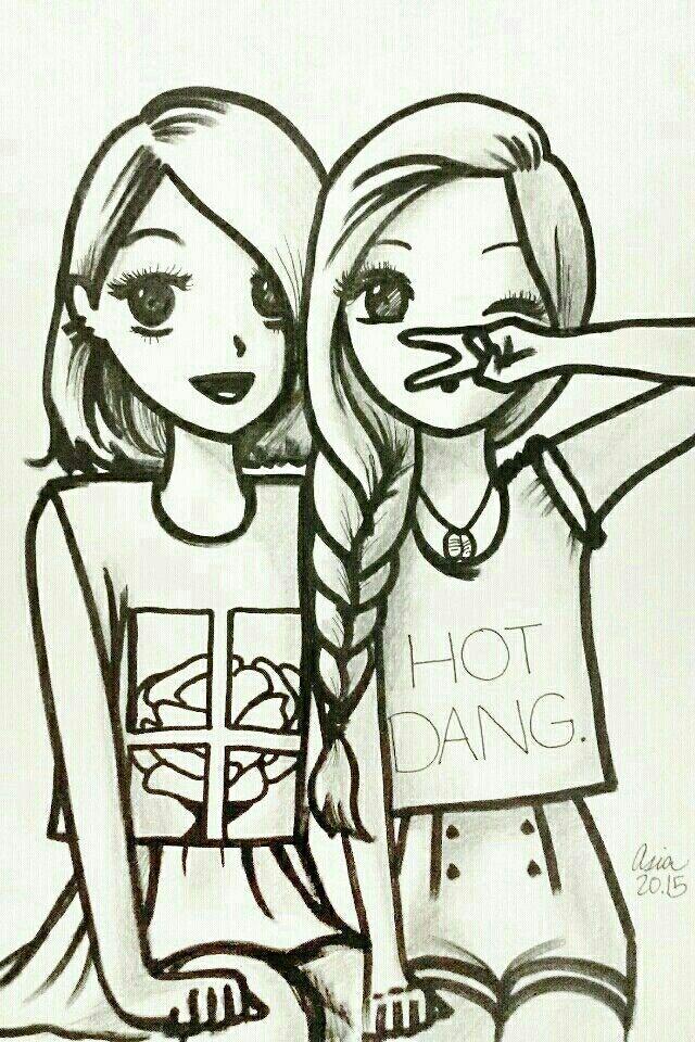 Kuvahaun Tulos Haulle Pinterest Friendship Art Bff Drawings