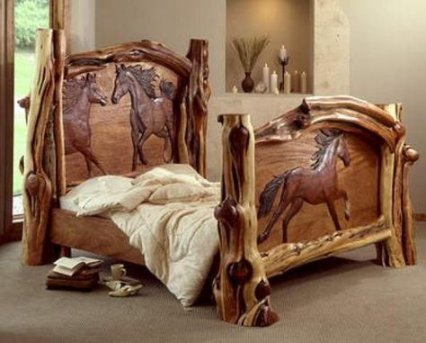 Festive Lady An Absolutely Amazing Bed Created By Amber Jean In 2020 Bed Furniture Design Horse Bedding Western Home Decor