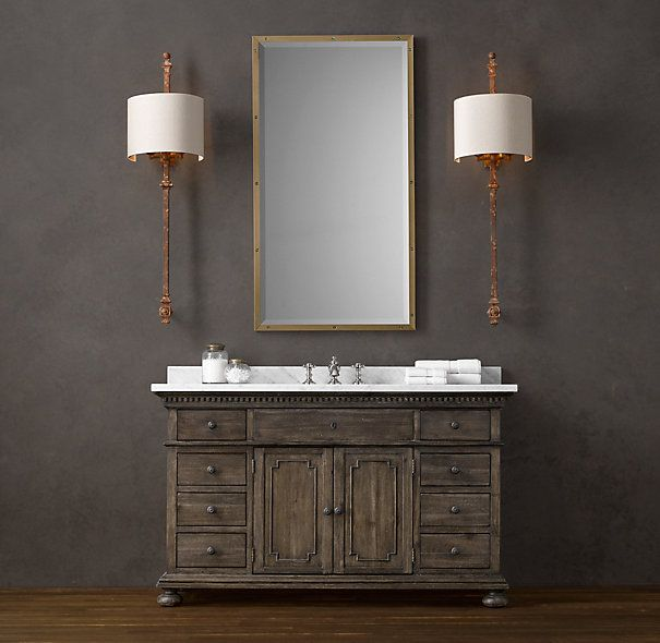 Restoration Hardware St James Extra Wide Single Vanity
