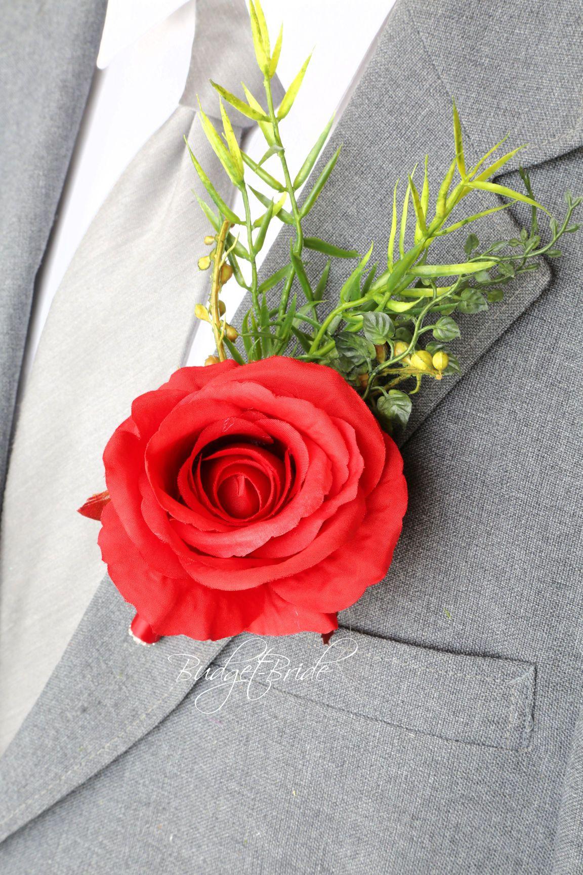Apple red davids bridal wedding mens boutonniere red wedding apple red davids bridal wedding mens boutonniere izmirmasajfo