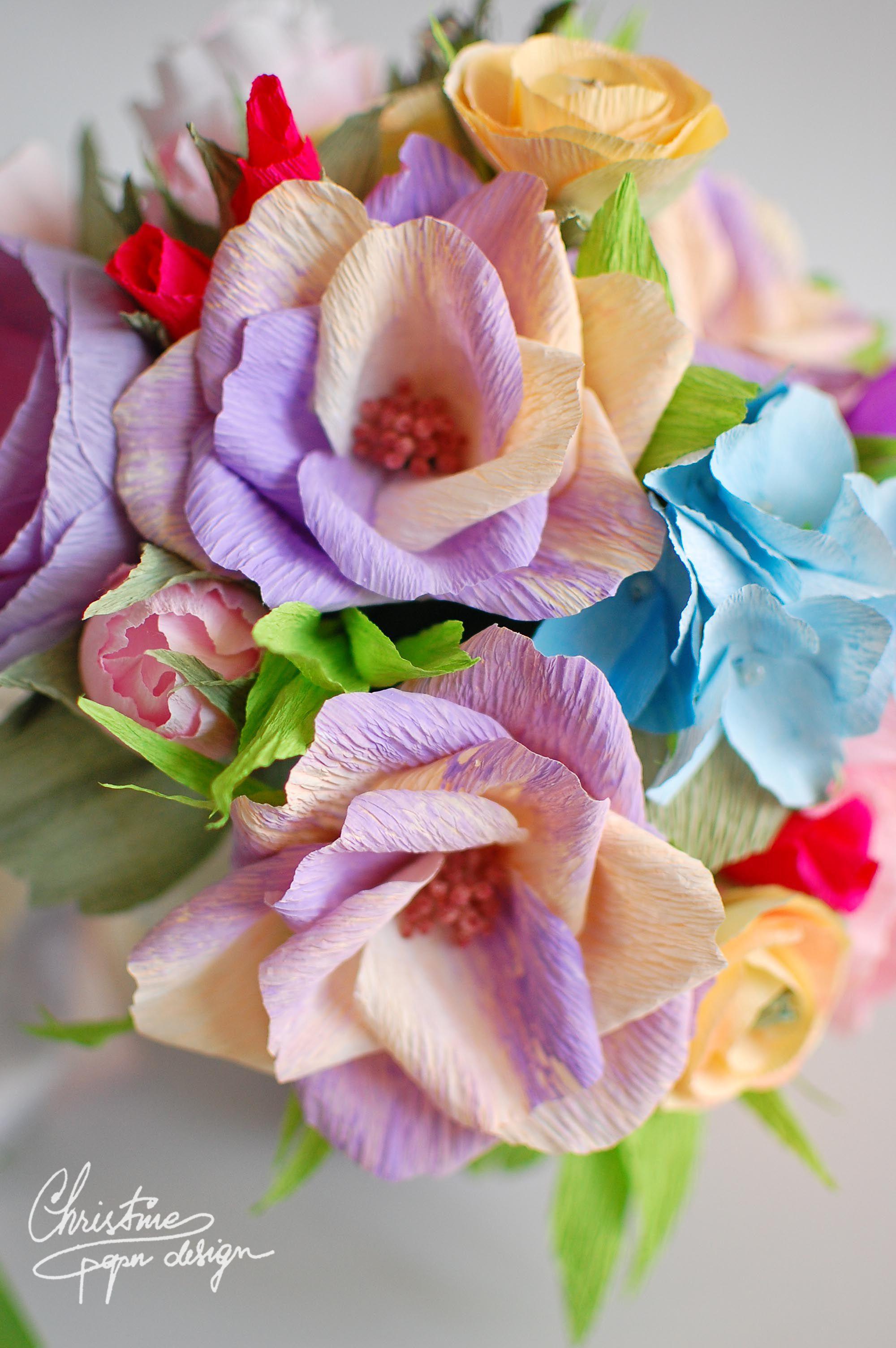 Diy Paper Flowers By Christine Paper Design Garden Roses