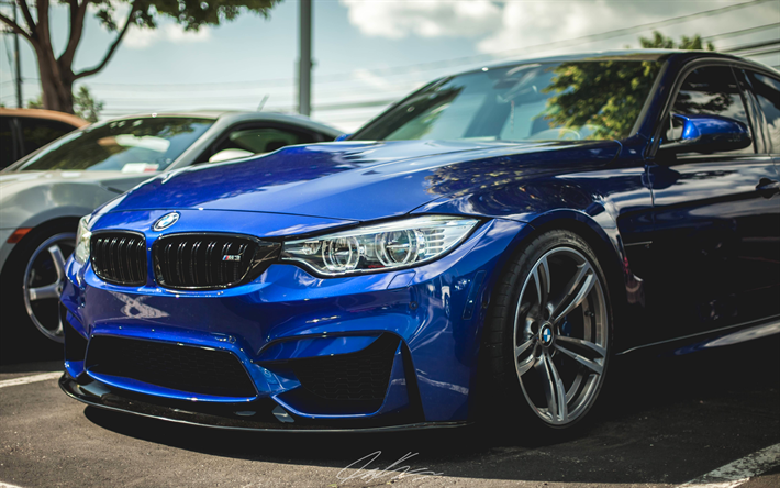 Download Wallpapers 4k Bmw M3 F80 2017 Cars Tuning Blue M3