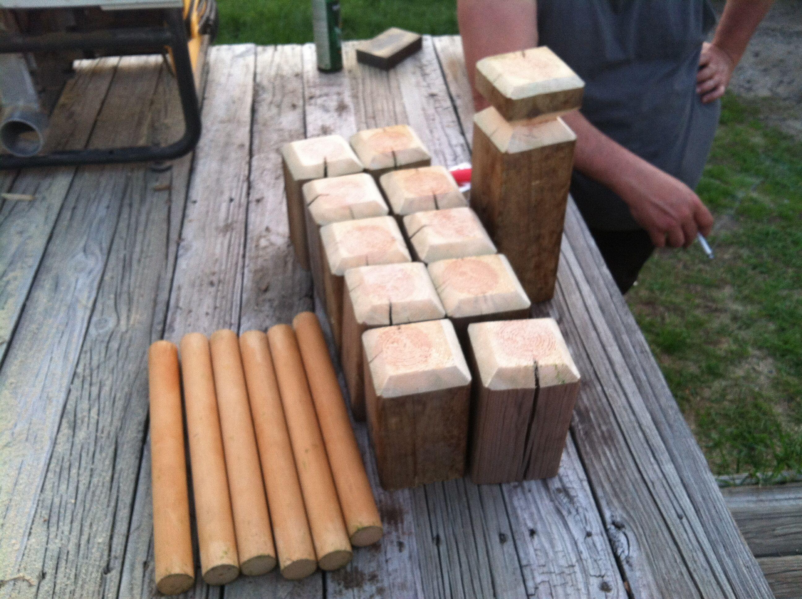 4x4 Wood Crafts Diy Kubbviking Chess Set 1 6ft 4x4 1 6ft Dowel Rod 2 Diameter