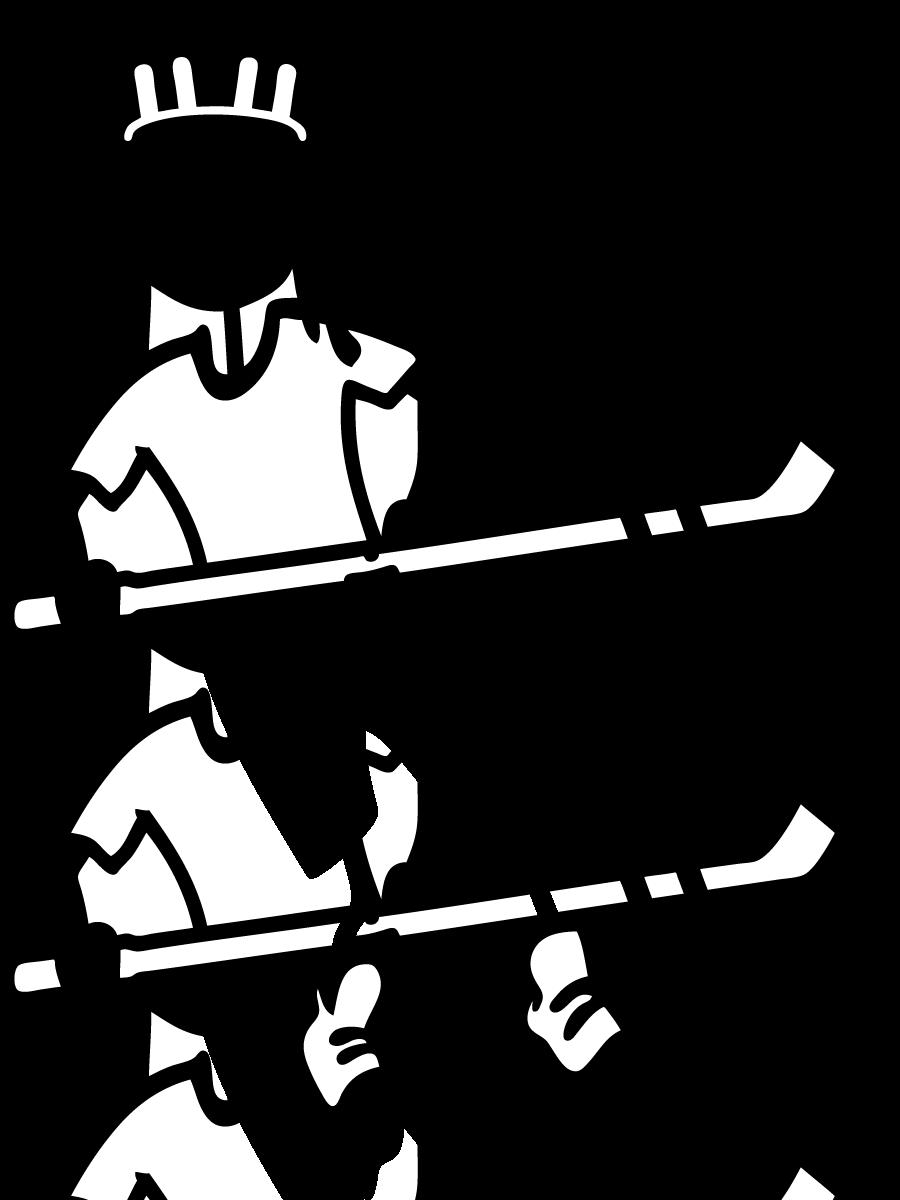 Girl Hockey Stick Girl Female Child Sticker Decal Car Window Fa Hockey Girls Hockey Stick Hockey Drawing